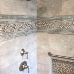 Shower in bathroom remodel.